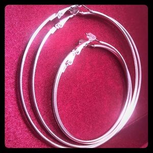 Jewelry - Silver Hoops Earrings- Medium and Large